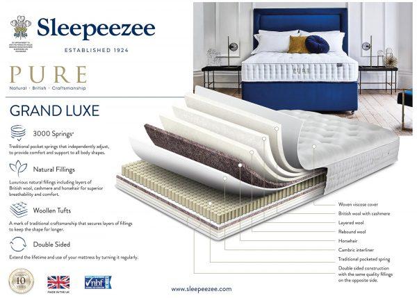 Sleepeezee Pure Grand Luxe Mattress