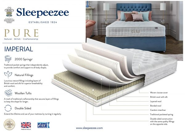 Sleepeezee Pure Imperial 2000 Mattress