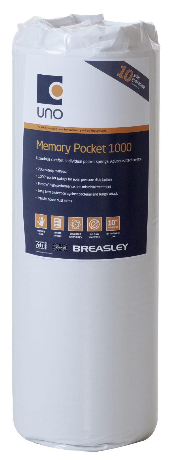 Breasley Caress Memory Pocket 1000