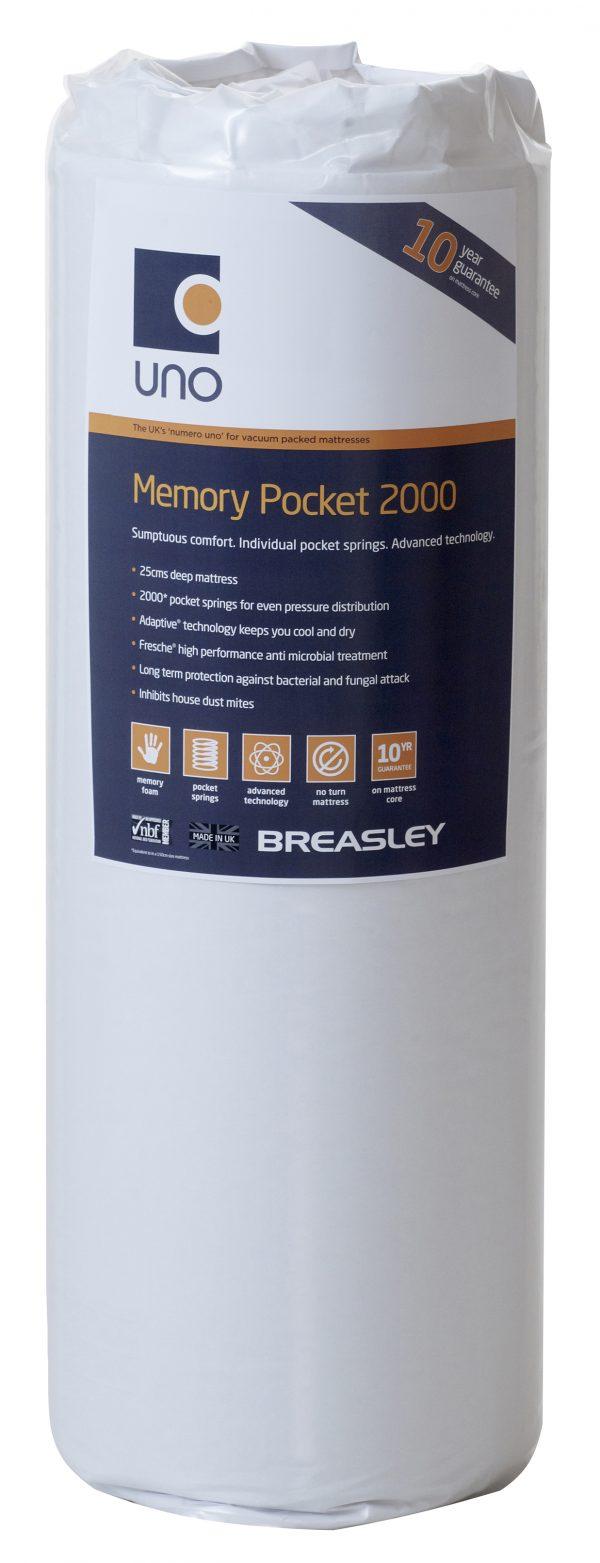 Breasley Caress Memory Pocket 2000