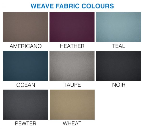 Weave fabric divan colour swatch